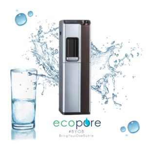 Standing 5-Stage Reverse Osmosis Water Purification System (with water heater and chiller)